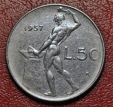 50 LIRE VULCANO 1957     BUONO STATO DI CONSERVAZIONE