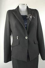 APRIORI Blazer 38 grigio poliestere nero viscosa giacca nuovo con etichetta