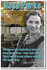 Rosa Parks - African American Civil Rights - NEW Classroom Motivational POSTER