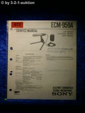 Sony service manual ECM 959a Microphone (#0672)