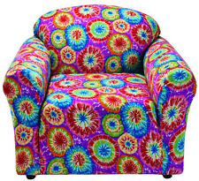 "JERSEY ""STRETCH"" CHAIR COVER SLIPCOVER--LAZY BOY---TIE DYE--10 SOLIDS & 3 PRINTS"