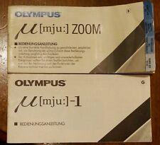Olympus mju deux notices (bedienungsanleitung) en allemand