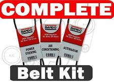2002-2004 (fits: Nissan xterra)Bando OEM 3PC Drive Belt Kit Alt-ps- Supercharge