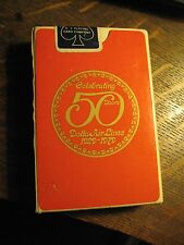 Delta Airlines DL DAL 50th Anniversary Vintage 1979 Airplane Deck Playing Cards