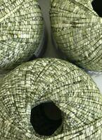 5 Mondial IRIS #968 Seaweed Green 50g Yarn Skeins Cotton Machine Washable ITALY