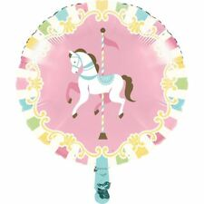 Carousel Baby Shower Foil Mylar Balloon 18""