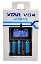 NEW XTAR VC4 4-Slot Smart LCD USB Li-ion NiMH  Battery Charger