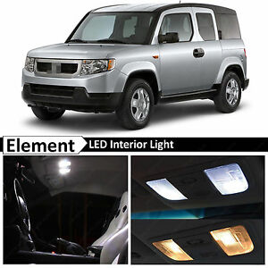 10x White Interior Map Dome LED Lights Package Kit Fits 2003-2011 Honda Element