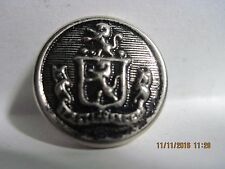 VINTAGE 20TH CENTURY SILVER/BLACK 'COAT OF ARMS' LIONS METAL BUTTON