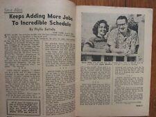 June 10, 1956 St. Louis Post-Dispatch TV Magazine(STEVE  ALLEN/JAYNE  MEADOWS)