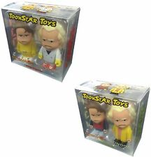 "Back to the Future Comic Con Ltd Ed 3"" Caricature Figures - 1985 & 2015 Box Sets"