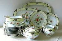 Lovely Vintage Victoria China Czechoslovakia 19 piece Set