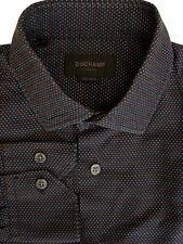 DUCHAMP LONDON Shirt Mens 15 S Black – Multi-Coloured Polka Dots TAILORED FIT