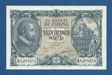 ESPAÑA // SPAIN -- 25 PESETAS ( 1940 ) -- EBC- // aXF -- SERIE E -- PICK 116a .