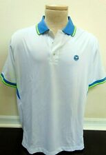 Wimbledon The Championships Tennis White & Blue polo shirt Sz L Large New Nwt