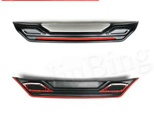 Red+Black+Silver Rear Bumper Protector Trim Fender Guard For Nissan Sentra 16-17