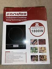 Sandoo Induction Cooktop Portable Electric Burner Stove Ha1897 1800W
