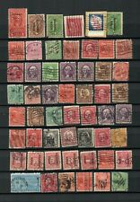 UNITED STATES AMERICA COLLECTION POSTAL USED PERFINS OLD STAMPS  LOT( USA 12)