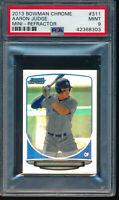 AARON JUDGE 2013 Bowman Chrome Mini REFRACTOR #/125 Rookie Card RC PSA 9 MINT