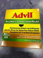 Advil Allergy & Congestion Relief 50 pack / 1 Coated Tablets Exp: 07/2021