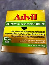 Advil Allergy & Congestion Relief 50 pack / 1 Coated Tablets Exp: 09/2020