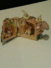 Ceramic Water Pot Rabbit House Figurine/ Decoration Easter