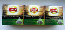 Tea green Lipton Gunpowder 20 pyramid x 3 boxes