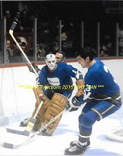 CHARLIE HODGE Sweeps PUCK Away From Habs Richard 8x10 Photo VANCOUVER CANUCKS~@@