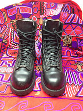ACADIA DANNER USA STEEL TOE BLACK LEATHER MILITARY ENGINEER BOSS BOOTS 11.5 D