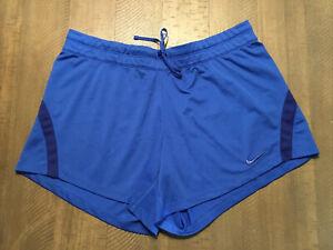 Nike Athletic Shorts Women's Blue Sz Large EUC