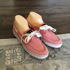SPERRY Top Sider Womens 9.5 B Boat Shoe Deck Bahama Coral Jersey Sequin