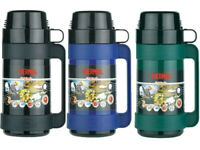 1 x Thermos Mondial Glass Vacuum Insulated Flask Travel Camping Picnic 500ml New