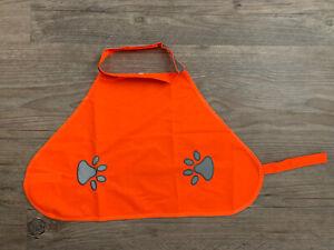 reflective dog safety vest (orange) size medium 13.7 inches