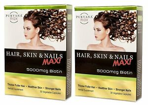 Purvana Max Hair, Skin and Nails Max 30 Veg. Caps.