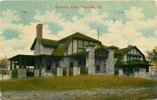 Danville Illinois: Stick-Style Country Club w/Stone Pillars~1915
