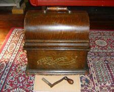 Thomas A. Edison Standard Phonograph Model B + Handle Full Banner Spins.1905/6