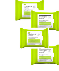 PACK OF  4 - Neutrogena Naturals Makeup Remover Facial Cleansing Towelettes