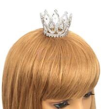 Small Cross Tiara Austrian Rhinestone Crystal Mini Crown Prom Party Fashion