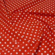100% Cotton Poplin Fabric Rose & Hubble 7mm Polka Dots Spots Spotty