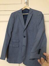 TAILOR & CUTTER Men's Blue/Grey Slim Fit Jacket (42R/VGC)