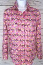 Robert Graham Floral Sz Small Button Down Embroidered Flip Cuff Career Blouse