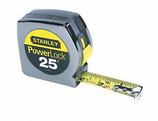"STANLEY POWERLOCK TAPE MEASURE 25 FT X 1"" INCH 33-425 NEW CLAMPACKED 25'"