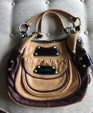 B. Makowsky Leather Hobo Handbag Slightly Used Brown Tan Gold hardware Must Have