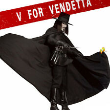 V For Vendetta Cosplay Uniform Halloween Party Costume 10 Pieces Accessories