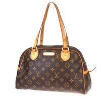 Authentic LOUIS VUITTON Montorgueil PM Tote Shoulder Bag Monogram M95565 84MC750