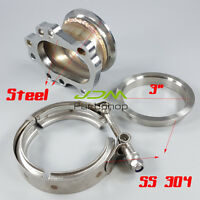 Turbo dump pipe kit T2 T25 T28 to 3 inch v band clamp stainless steel vband 76mm