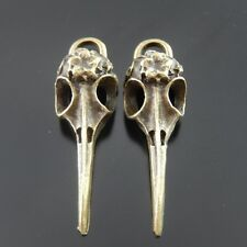 14pcs Antique Bronze Skull Bird Head Charms Alloy Pendant Findings 38*13mm 37506