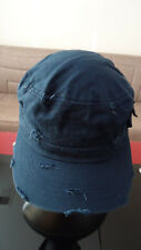 Ethos Fitted Ripped Cap 100% Cotton Navy Size XL