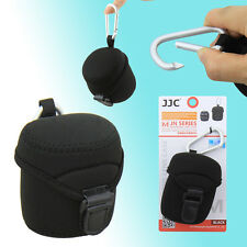 JJC Medium Size Neoprene Lens Pouch Case Protector Bag With Metal Hood - 62x68mm