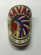 vintage bicycle SAVAGE Indian Chief  Head BADGE tag Rollfast DP Harris